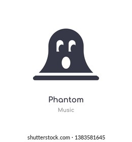 phantom outline icon. isolated line vector illustration from music collection. editable thin stroke phantom icon on white background