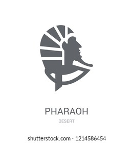 Pharaoh icon. Trendy Pharaoh logo concept on white background from Desert collection. Suitable for use on web apps, mobile apps and print media.