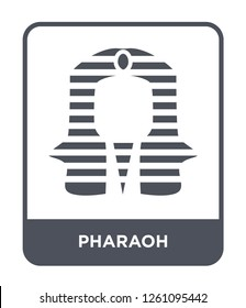 pharaoh icon vector on white background, pharaoh trendy filled icons from Desert collection, pharaoh simple element illustration
