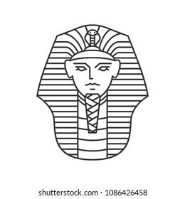 pharaoh vector logo artwork line art outline illustration monoline