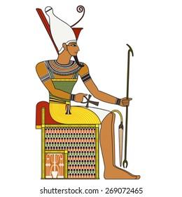 Pharaoh,isolated figure of ancient egypt pharaoh