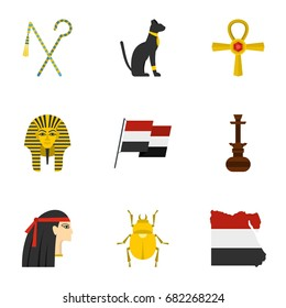 Pharaon of Egypt icons set. Cartoon set of 9 pharaon of Egypt vector icons for web isolated on white background