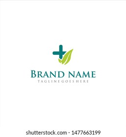 Pharma Medical Leaf Logo Icon Vector