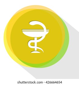 pharma symbol. Internet template. Vector icon.