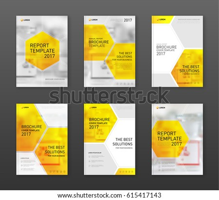 Pharmaceutical Brochure Cover Templates Set Applicable Stock Vector