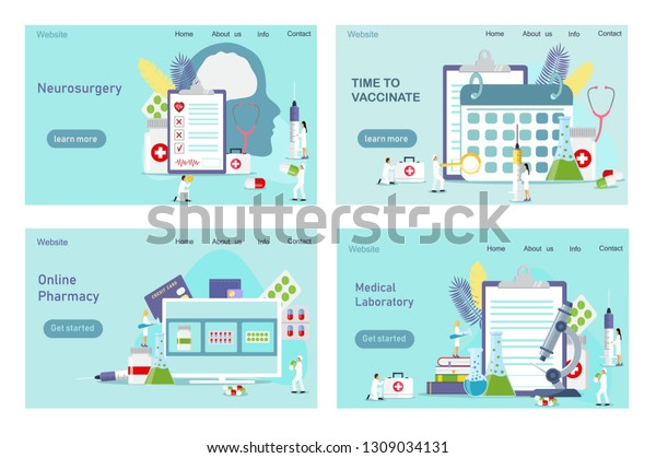 Pharmacist Give Advice Conceling Medication Time Stock Vector