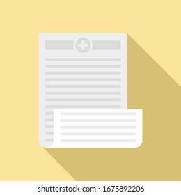 Pharmacist prescription icon. Flat illustration of pharmacist prescription vector icon for web design