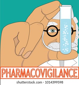 Pharmacovigilance control and evaluation in pharmacy, vector
