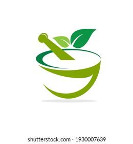 Pharmacy ayurveda  sign andvsymbols vector logo illustration design