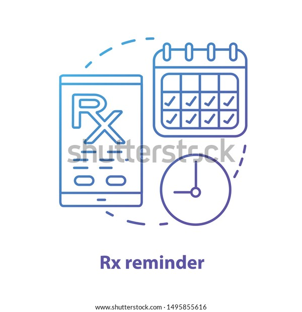 Pharmacy Concept Icon Rx Medication Intake Stock Vector Royalty Free 1495855616