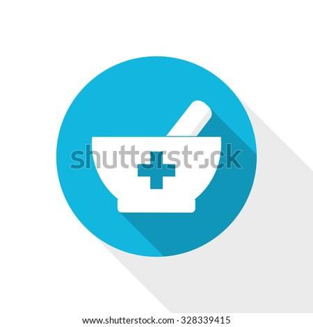 pharmacy design mortar pestle vector icon stock vector royalty free