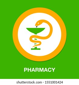 pharmacy icon. flat illustration of pharmacy vector icon for web