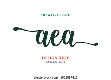 pharmacy letter AEA logo is simple, easy to understand and authoritative
