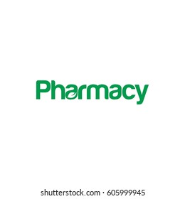 Pharmacy letter logo design