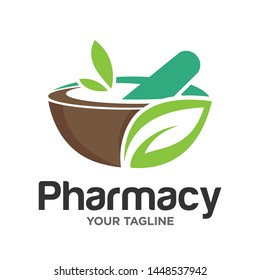 Pharmacy Logo Design Stock Vector