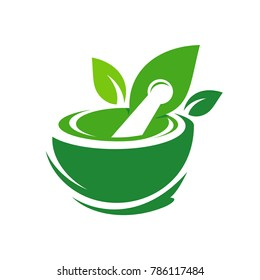 Pharmacy Logo Eco Green Design Vector Template