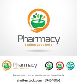 Pharmacy Logo Template Design Vector