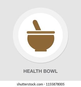 pharmacy medicine - herbal bowl - pharmaceutical symbol