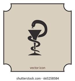 Pharmacy symbol, vector icon