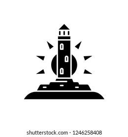 Pharos black icon, vector sign on isolated background. Pharos concept symbol, illustration