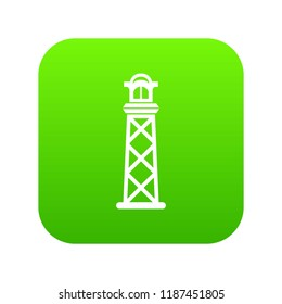 Pharos icon green vector isolated on white background