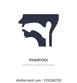 pharynx icon on white background. Simple element illustration from Medical concept. pharynx icon symbol design.