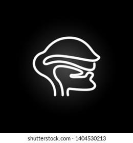 Pharynx, organ neon icon. Elements of human organ set. Simple icon for websites, web design, mobile app, info graphics