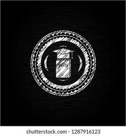 Phd thesis icon drawn on a blackboard