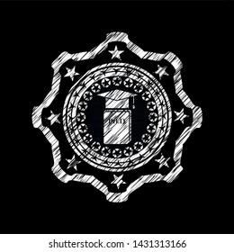 Phd thesis icon inside chalk emblem