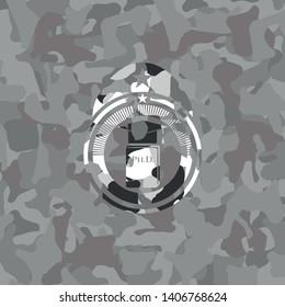 Phd thesis icon inside grey camo texture