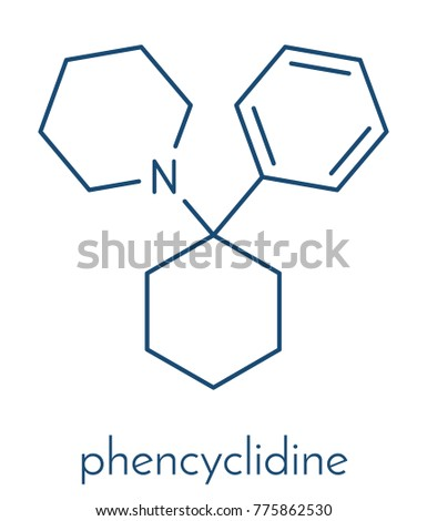 Phencyclidine Pcp Angel Dust Hallucinogenic Drug Stock Vektorgrafik