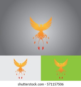 pheonix flying icon logo