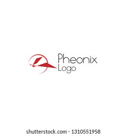 pheonix logo for company, organization or team with pheonix bird symbol for unlimited power