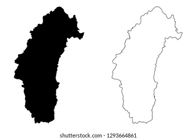 Phetchabun Province (Kingdom of Thailand, Siam, Provinces of Thailand) map vector illustration, scribble sketch Phetchabun map