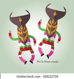 Phi TA khon Thai ghost