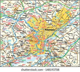 Philadelphia, Pennsylvania area map