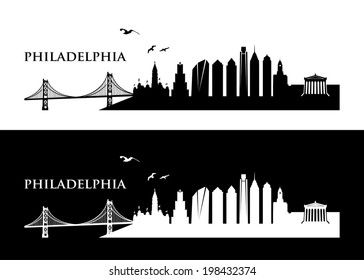 Philadelphia skyline - vector illustration