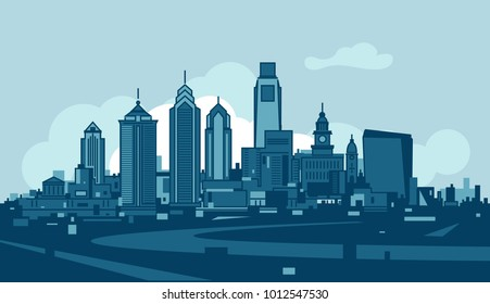 Philadelphia vector skyline