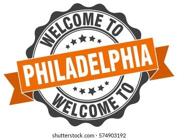 Philadelphia. Welcome to Philadelphia stamp