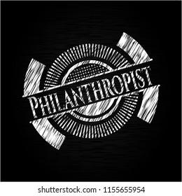 Philanthropist chalk emblem