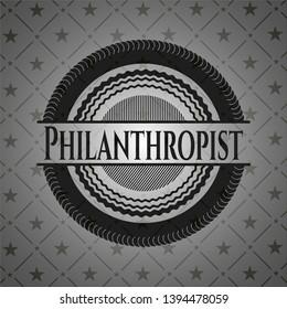 Philanthropist dark emblem. Vector Illustration. Detailed.