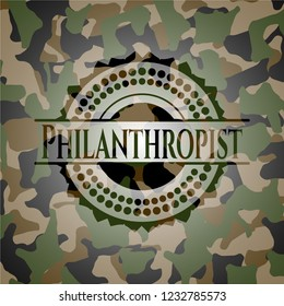 Philanthropist on camo pattern