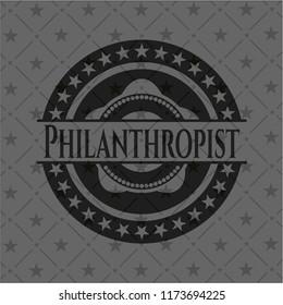 Philanthropist realistic dark emblem