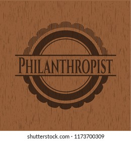 Philanthropist realistic wood emblem