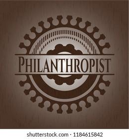 Philanthropist wood emblem