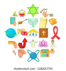 Philanthropy icons set. Cartoon set of 25 philanthropy vector icons for web isolated on white background