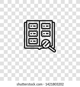 philately icon from hobby collection for mobile concept and web apps icon. Transparent outline, thin line philately icon for website design and mobile, app development