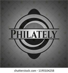 Philately realistic black emblem