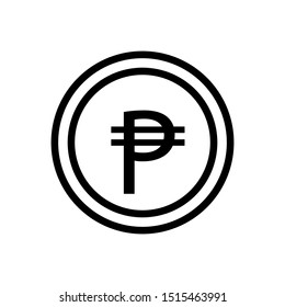 PHILIPPINE banking currency symbol, peso vector icon template