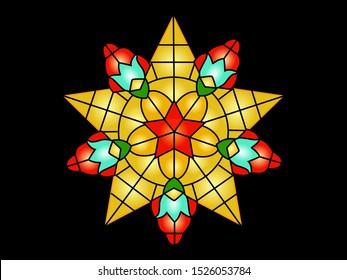Philippine Christmas lantern lights decoration